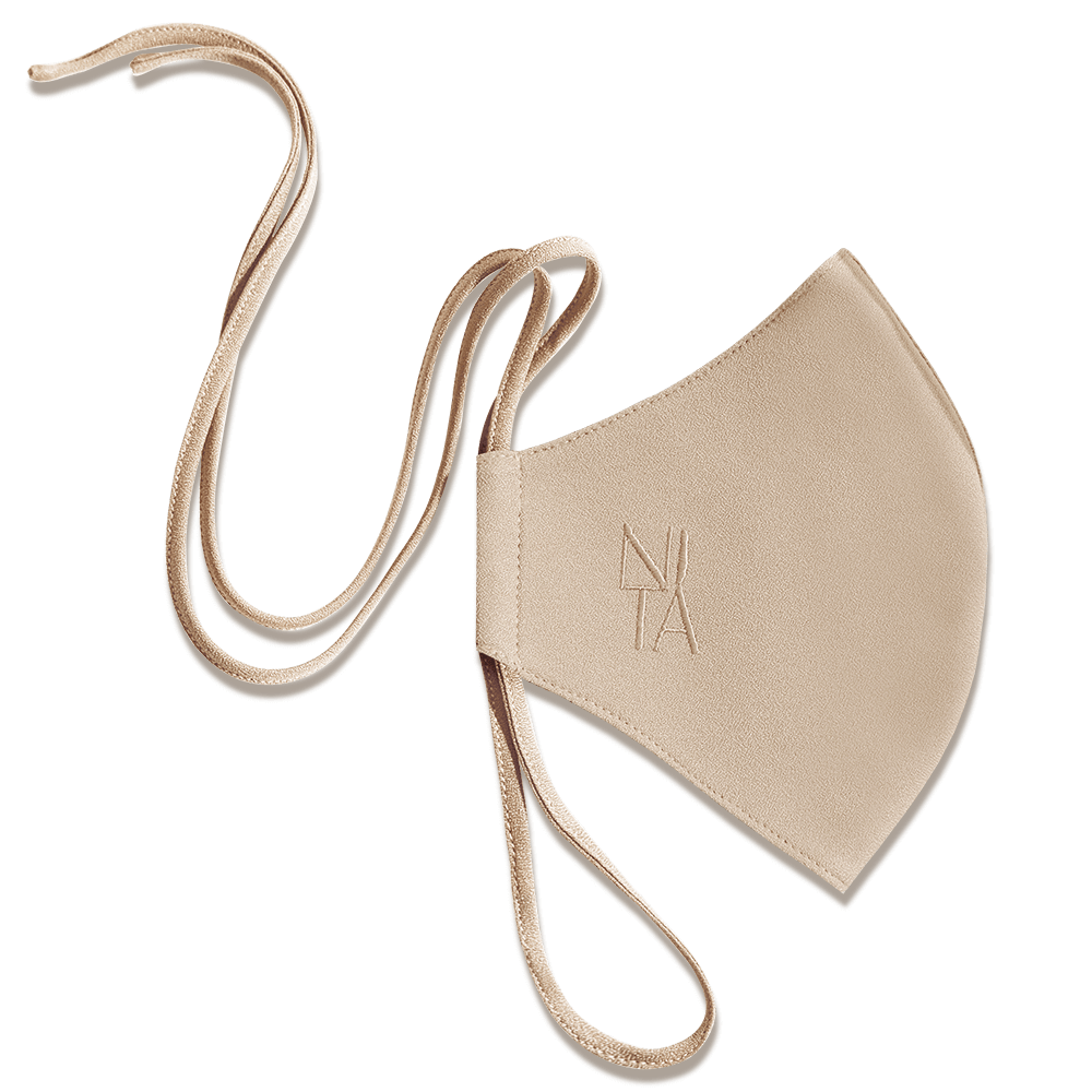 Foundation Face Mask with String Extension in Pistachio