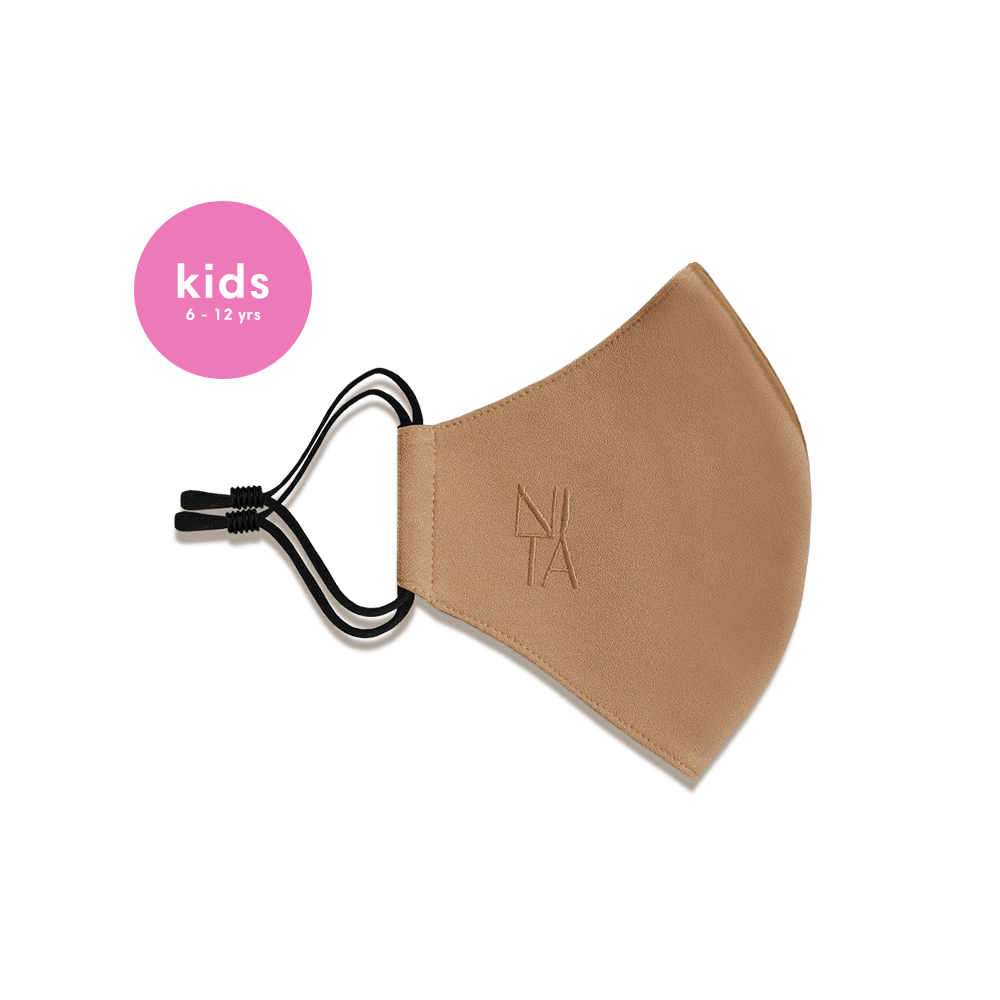Foundation Face Mask with Earloop in Almond (Kids)