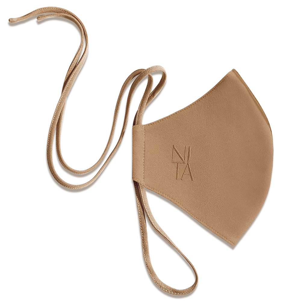 Foundation Face Mask with String Extension in Almond