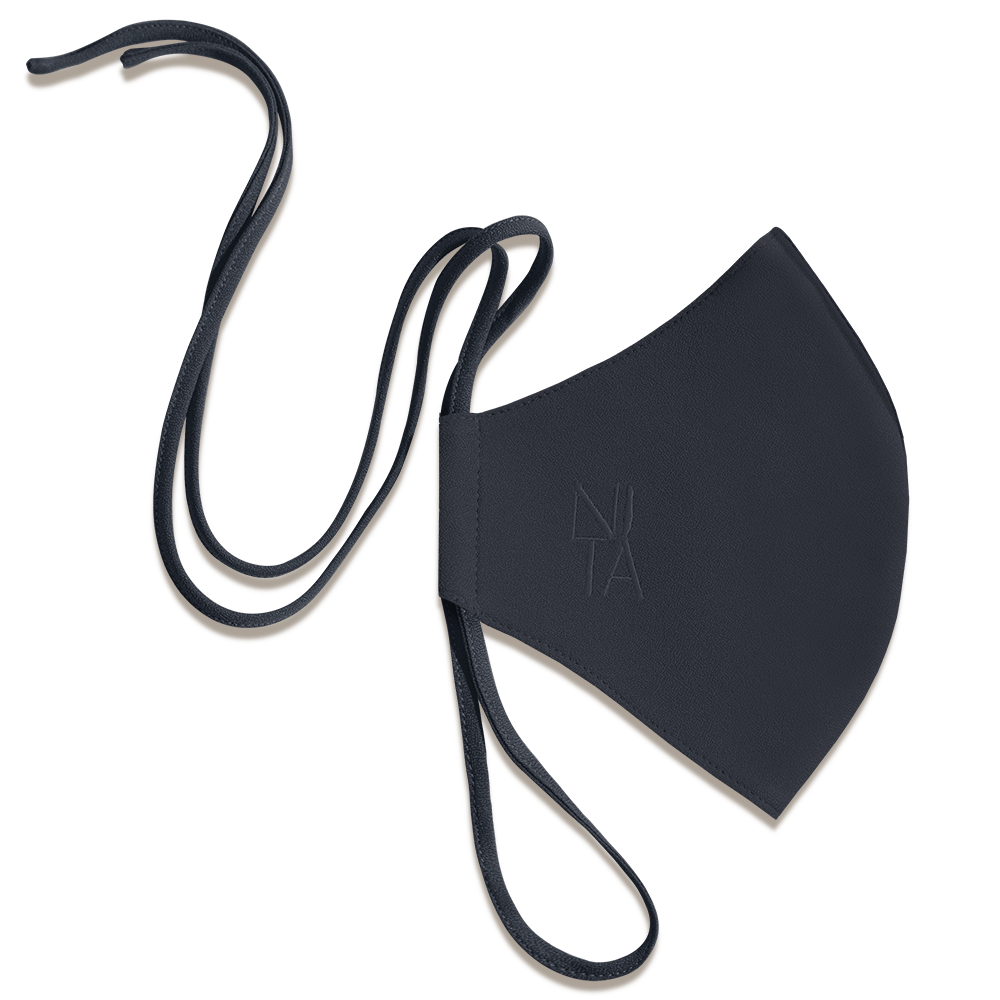 Foundation Face Mask with String Extension in Navy