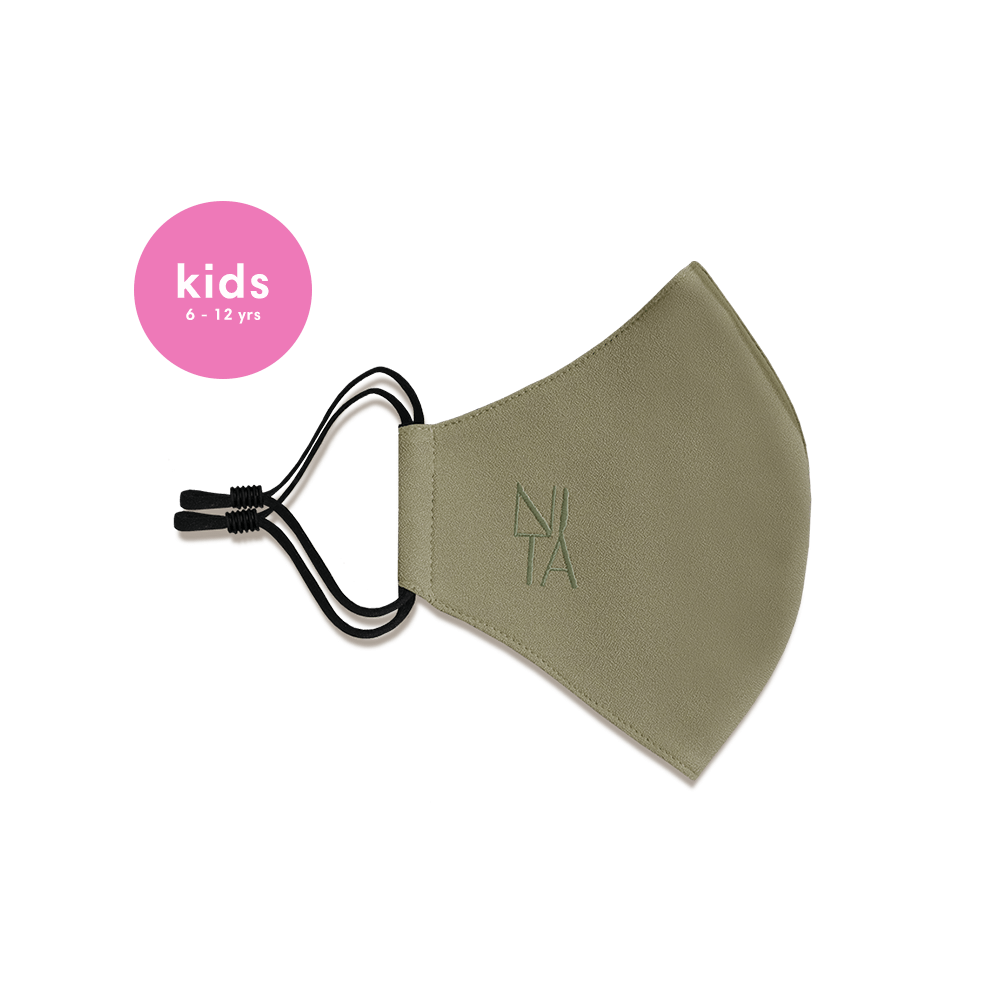 Foundation Face Mask with Earloop in Olive (Kids)