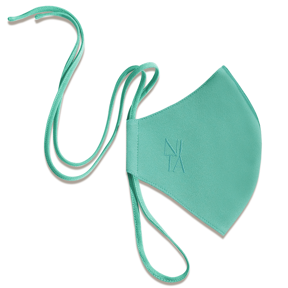 Foundation Face Mask with String Extension in Peppermint