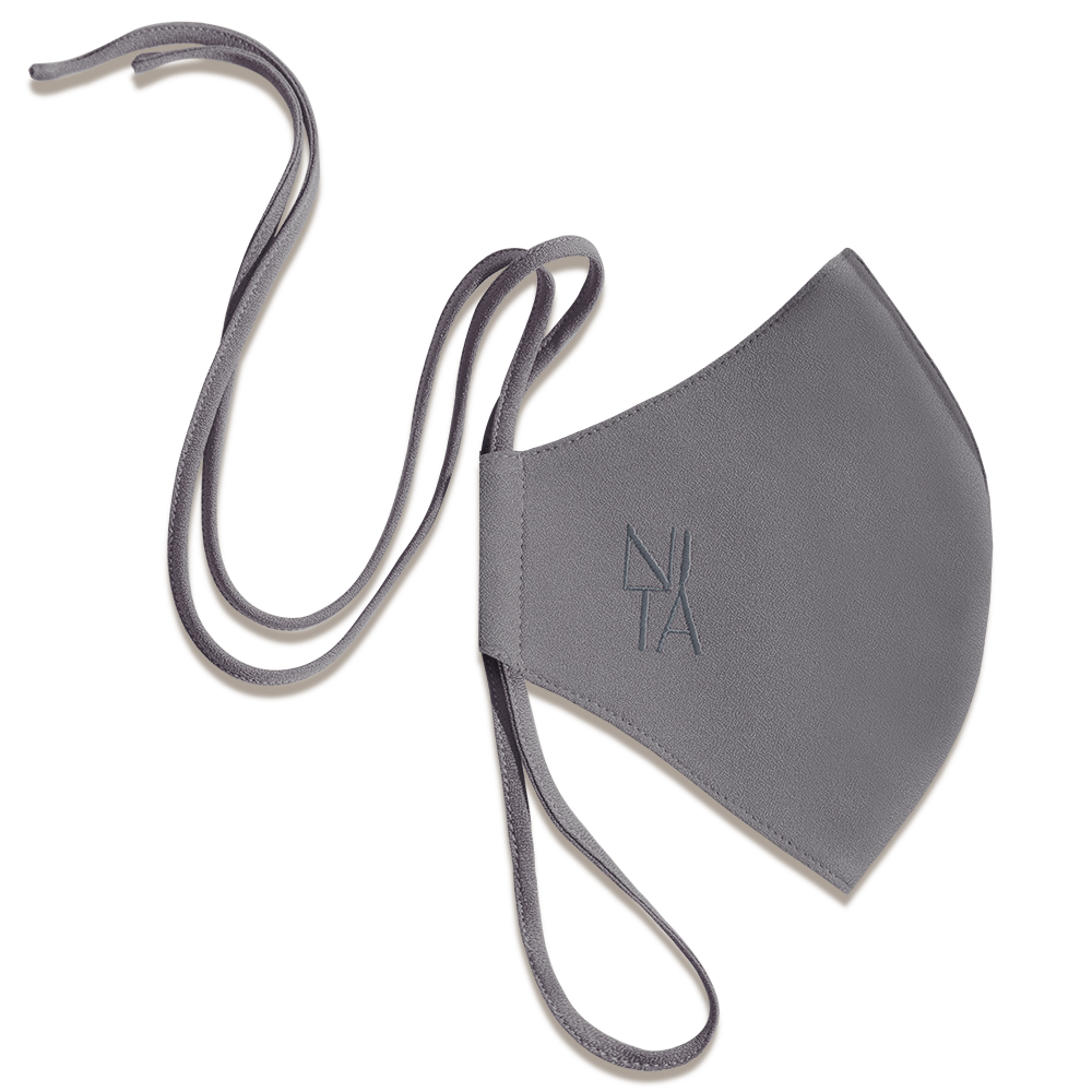 Foundation Face Mask with String Extension in Smoke